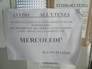 avviso cancelleria gdp salerno